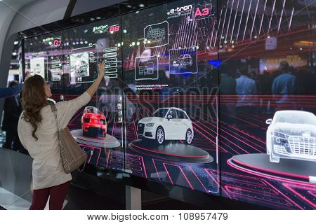 Audi Touch Screen Display