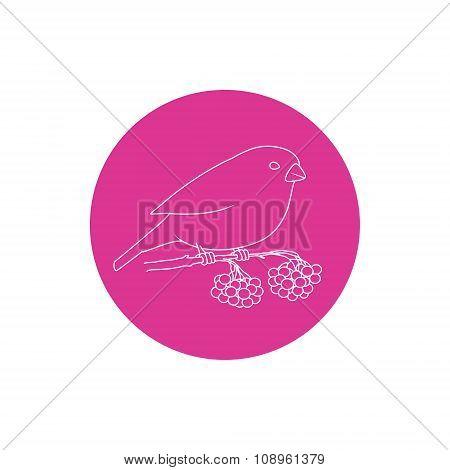 Linear  Icon Christmas Bullfinch