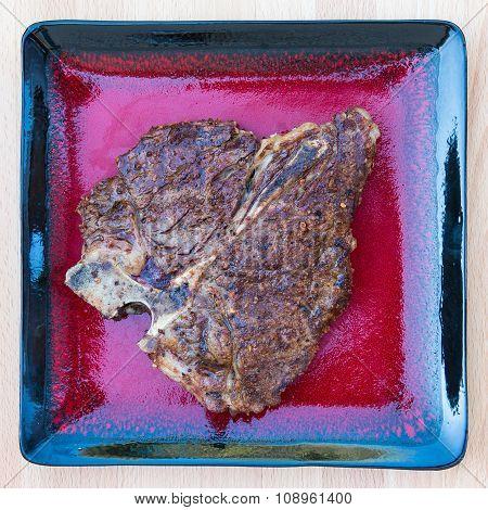 Grilled T-bone Steak With Seasoning
