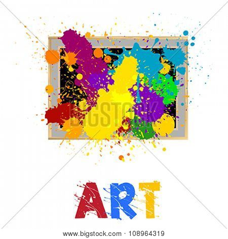 art frame with abstract design