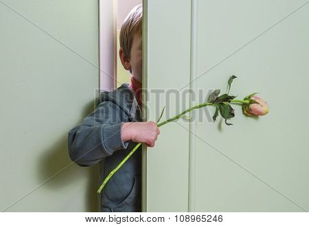 Hiding With Flower