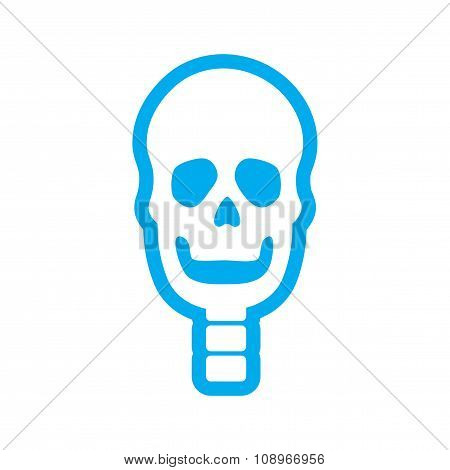 flat icon on white background human skull