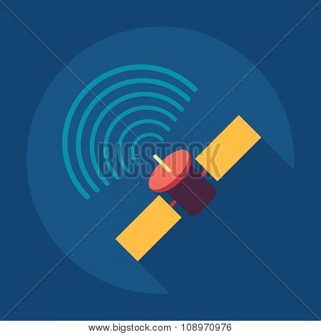 Satellite sign icon, vector illustration