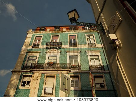 Traditional old Lissabon houses