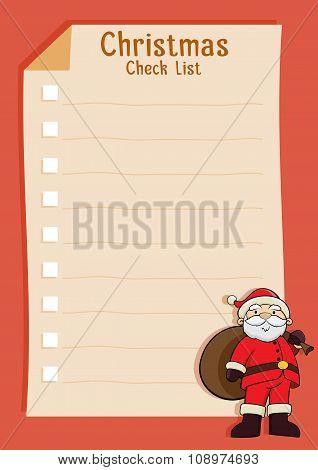 Santa Blank Christmas Check List