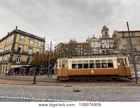 Famous old tram in Porto