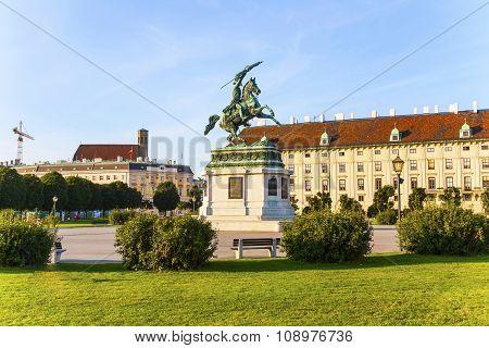 Horse And Rider Statue Of Archduke Karl In Vienna