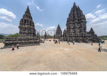 Yogyakarta, Indonesia - Circa September 2015: Prambanan Hindu Temple Complex, Java,  Indonesia