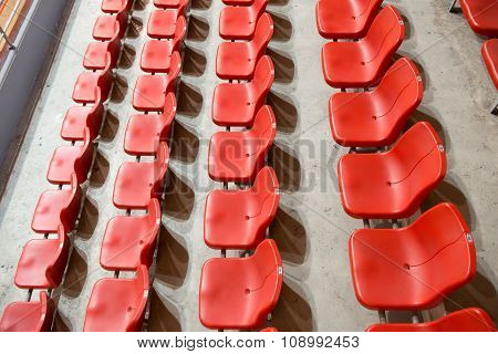 Top View Side View Red Stadium Seats