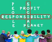 Social Responsibility Reliability Dependability Ethics Concept poster