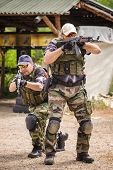 Tactical Training. Shooting and Weapons. Outdoor Shooting Range poster