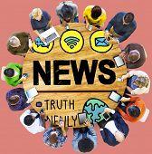 News Broadcast Information Media Publication Concept poster