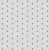 Dot lace seamless pattern net. Black cell textile openwork knit. Beads on hosiery knit. Polka dot in a row on reticulate textile. poster