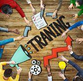 People Aspirations Innovation Development Training Symbol Ideas Concepts poster