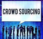 Crowed sourcing Collaboration Group Online Community Concept poster