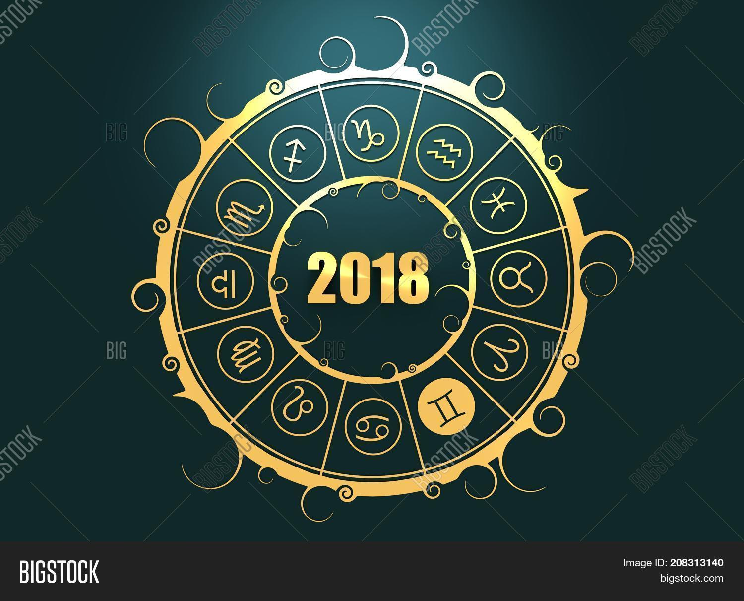 Astrological symbols image photo free trial bigstock astrological symbols in the circle gemini sign celebration card template zodiac circle with ccuart Images
