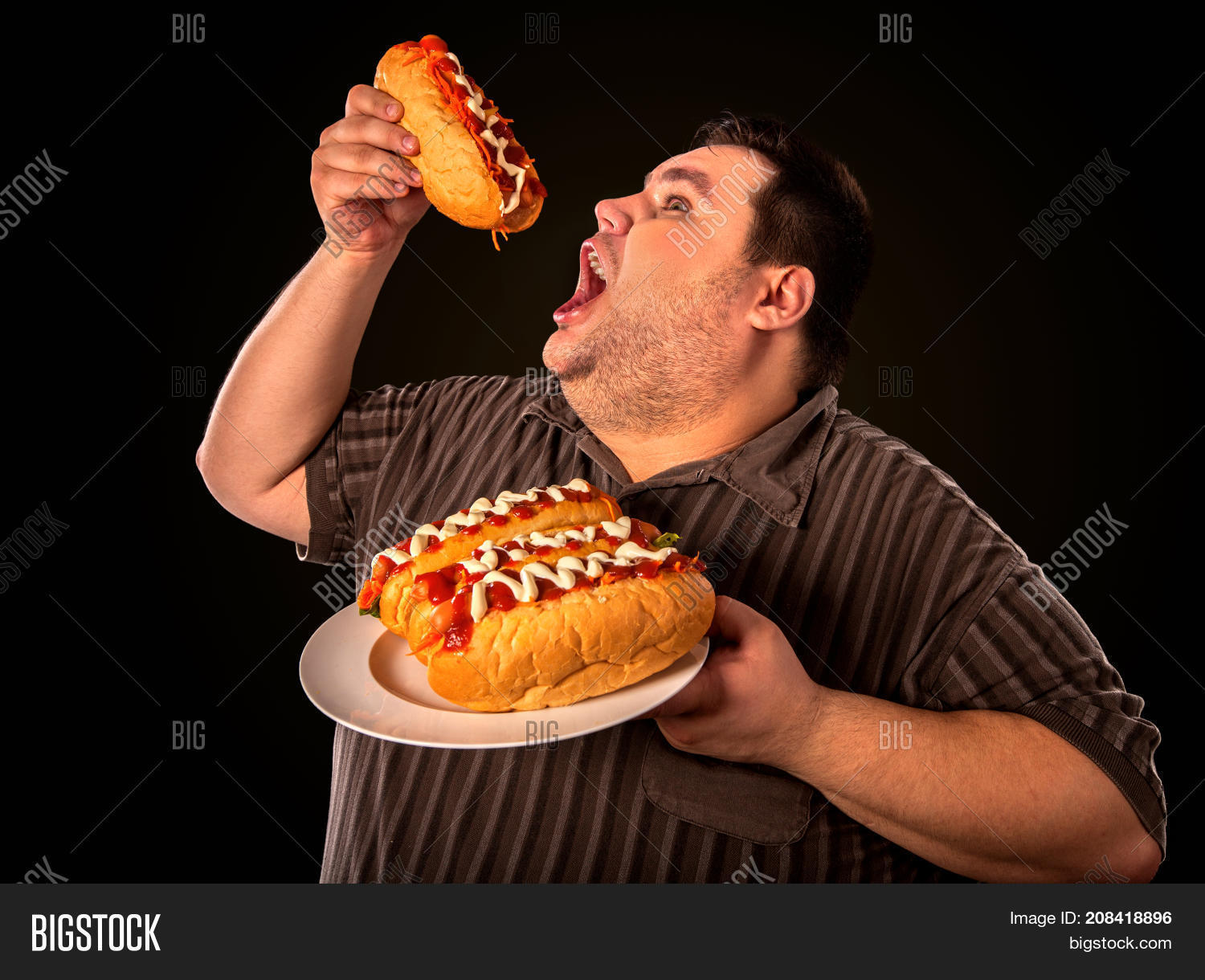 People Eating A Lot Of Food