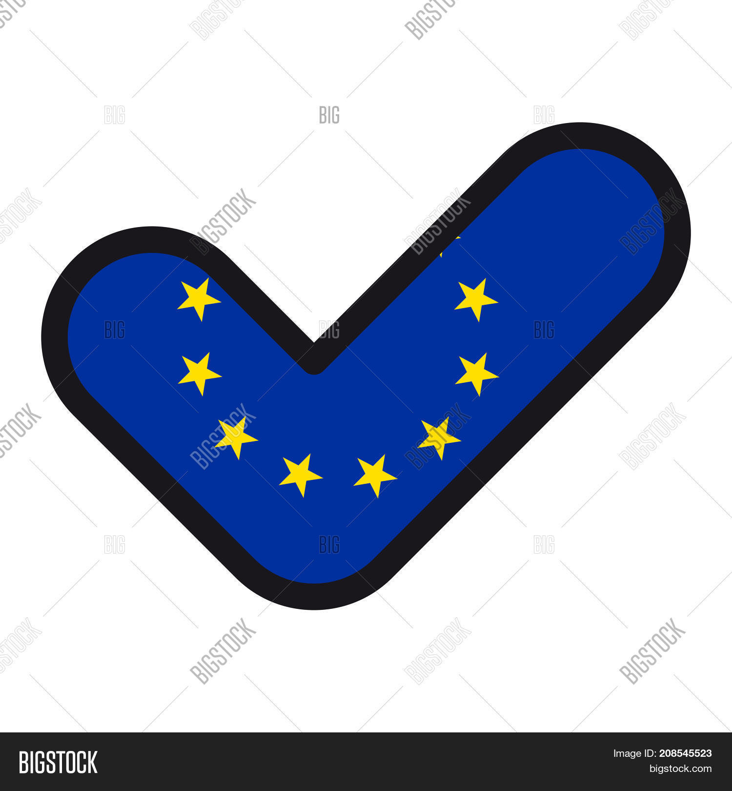 Flag European Union Image Photo Free Trial Bigstock