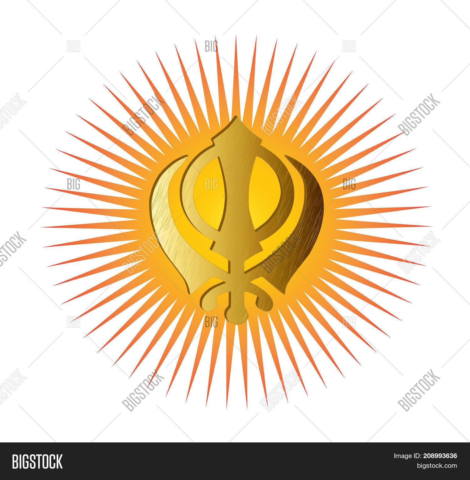 Main Symbol Sikhism Sign Khanda Image Photo Bigstock