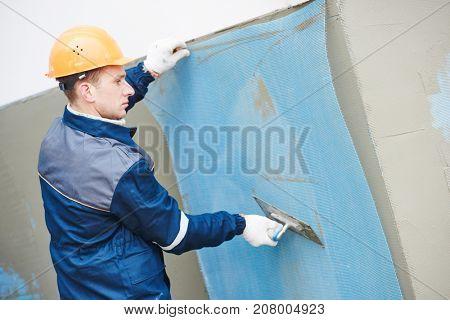 Facade fiberglass reinforcing plastering mesh used for plaster work