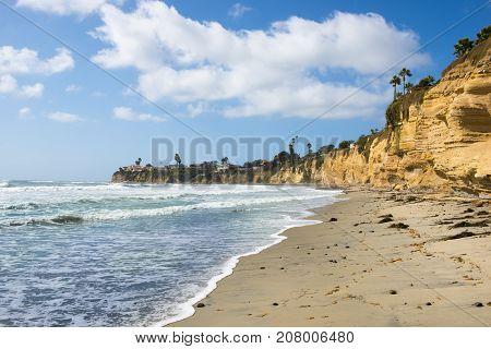 Landscape Coast of southern California. San Diego.