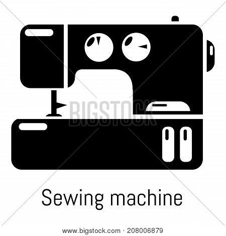 Sewing machine icon. Simple illustration of sewing machine vector icon for web