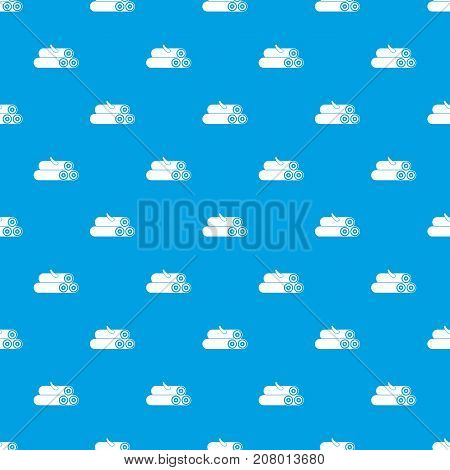 Wooden logs pattern repeat seamless in blue color for any design. Vector geometric illustration