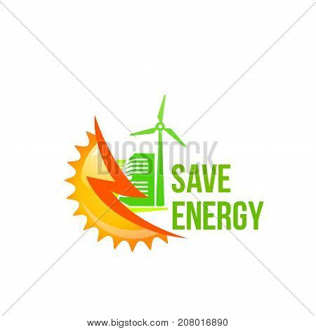 Save Energy Icon Sun Vector Photo Free Trial Bigstock