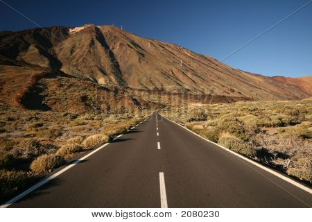 Long Road And Mountain