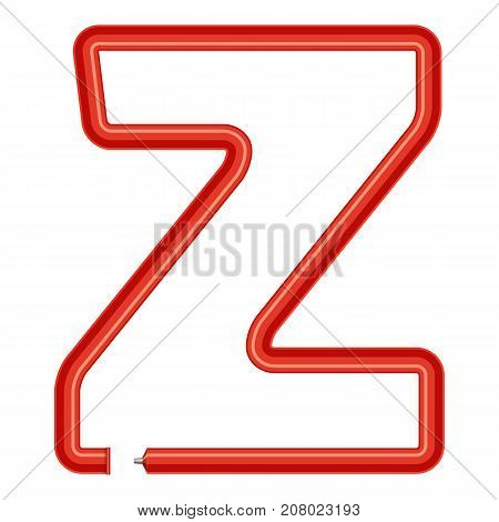 Letter z plastic tube icon. Cartoon illustration of letter z plastic tube vector icon for web