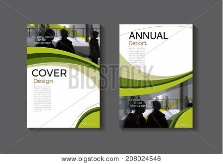 green template book cover design modern cover abstract Brochure coverannual report magazine and flyer layout Vector a4