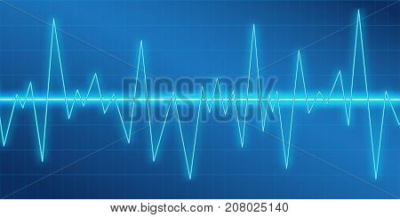 Sound waves oscillating glow, neon light, Spectrum analyzer. Music Equalizer. Amplitude Modulation. Abstract technology background , vector illustration