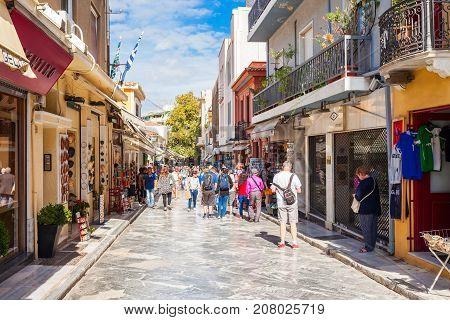 Market Street In Plaka