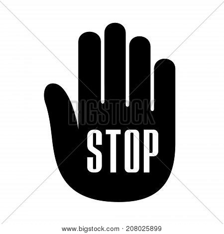 Hand palm open stop up logo icon. Simple illustration of umbrella hand palm with open stop vector illustration for print or web design.