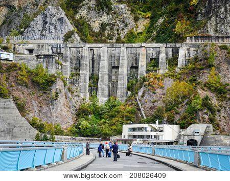 Kurobe Dam In Toyama Prefecture, Japan