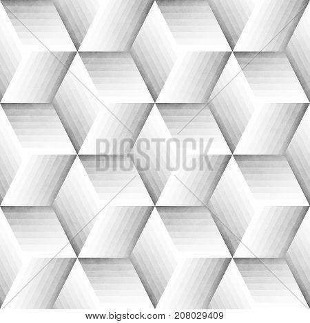 Seamless Monochrome Pattern. Grungy Geometric Shapes Tiling. Abstract Stylish Background