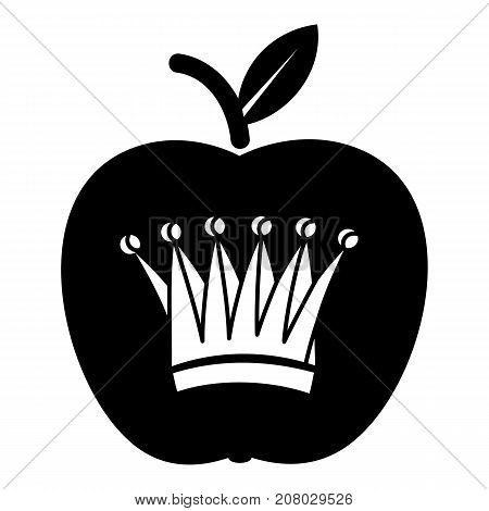 King apple icon. Simple illustration of king apple vector icon for web