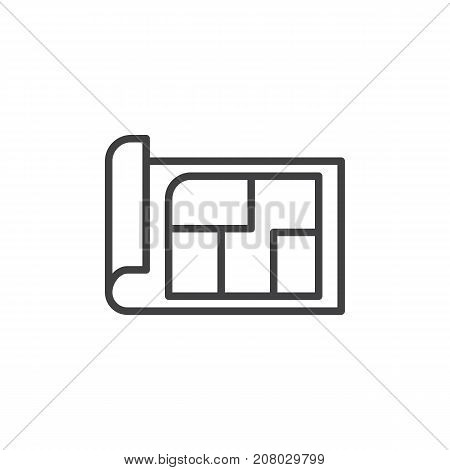 Blueprint line icon, outline vector sign, linear style pictogram isolated on white. Symbol, logo illustration. Editable stroke