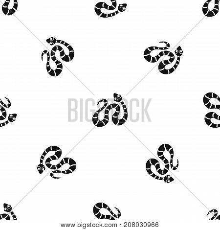 Black striped snake pattern repeat seamless in black color for any design. Vector geometric illustration
