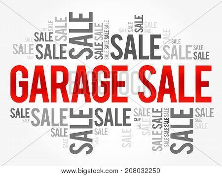 Garage Sale Words Cloud, Business Concept Background