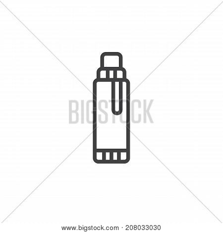 Glue line icon, outline vector sign, linear style pictogram isolated on white. Symbol, logo illustration. Editable stroke
