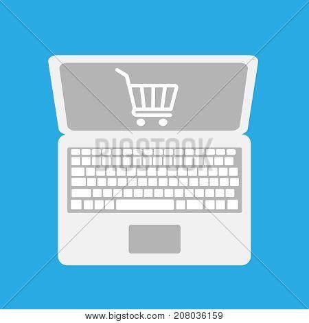 online shopping icon illistration flat eps 10