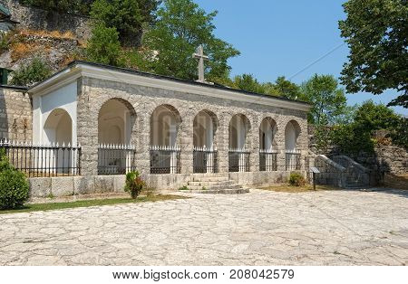 Cetinan Orthodox Monastery Shrine with the relics of St. Peter Cetinje Montenegro