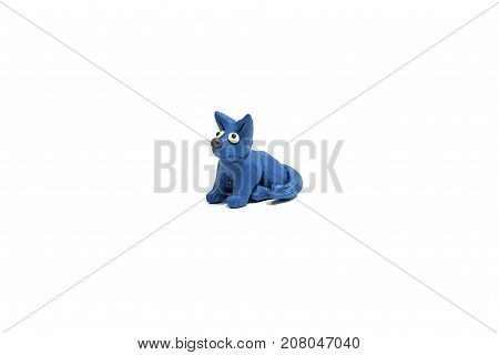 Small Dog Made From Plasticine.
