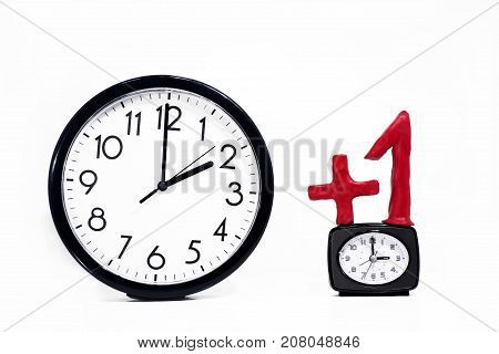 Daylight Saving Time. Wall Clock going to summer time