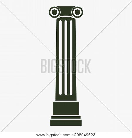Antique column pillar vector icon. Ancient column sign.