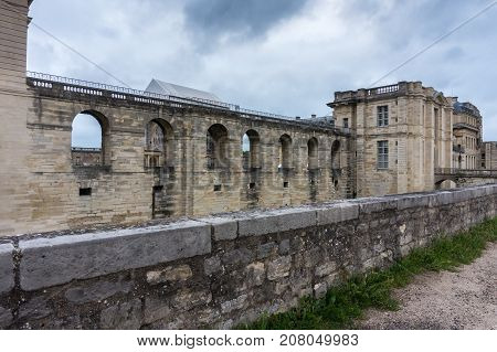 Wall of the Castle of Vincennes Paris. France. Chateau de Vincennes - royal fortress 14th - 17th century