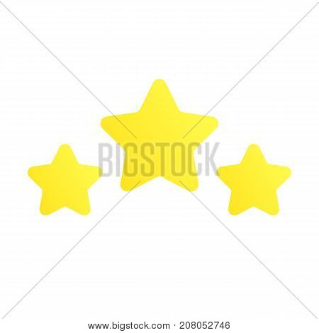 Stars rating. Level Completed. Level up. Element for game design. Vector illustration