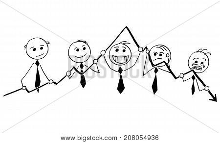 Group Of Businessmen Holding Graph Chart
