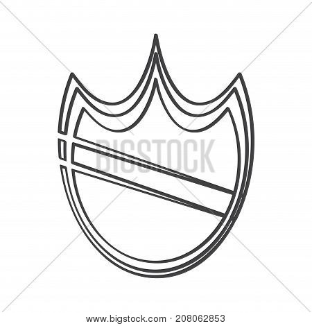 Isolated heraldry shield icon, IT Vector illustration
